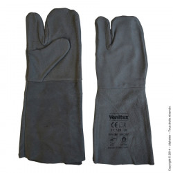 Gants thermo noirs 5 doigts - Taille unique